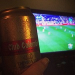 We enjoyed a night or two just chillin in the apartment, sports on TV and cold Club Colombia in hand (Photo Credit: Malia Yoshioka)