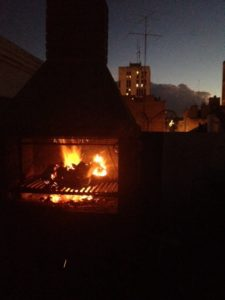 Firey furnace of the rooftop asado