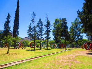 Strange ring art in a Cordoba park