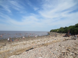 Buenos Aires is not directly on the Atlantic coast (as I had always assumed) but is actually situated upriver along the Rio del Plata. This rocky beach inside the Costanera del Sur nature preserve is a popular hangout for locals, but I must say, the water does not look too inviting to me.