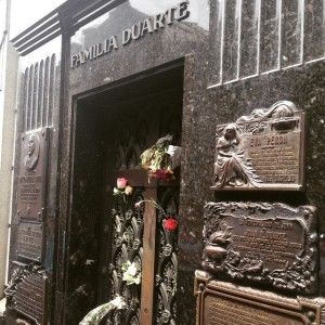 Duarte Family mausoleum, where Evita found her final resting place (after 20 odd years of her remains being moved around to hide them from potential grave robbers)