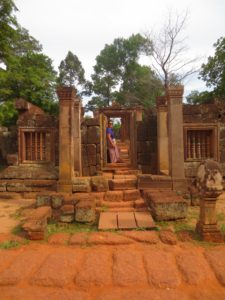 Caught in frame at Banteay Srei