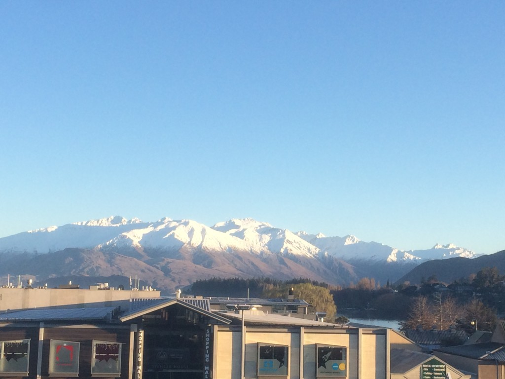 View from our hostel in Wanaka