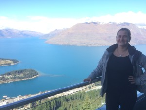 Pre-zipline atop Queenstown Hill