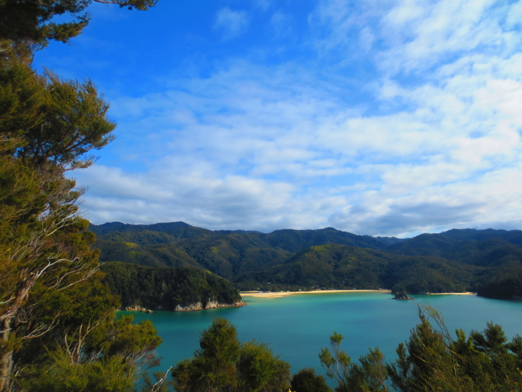 Amazing views from the trail in Abel Tasman