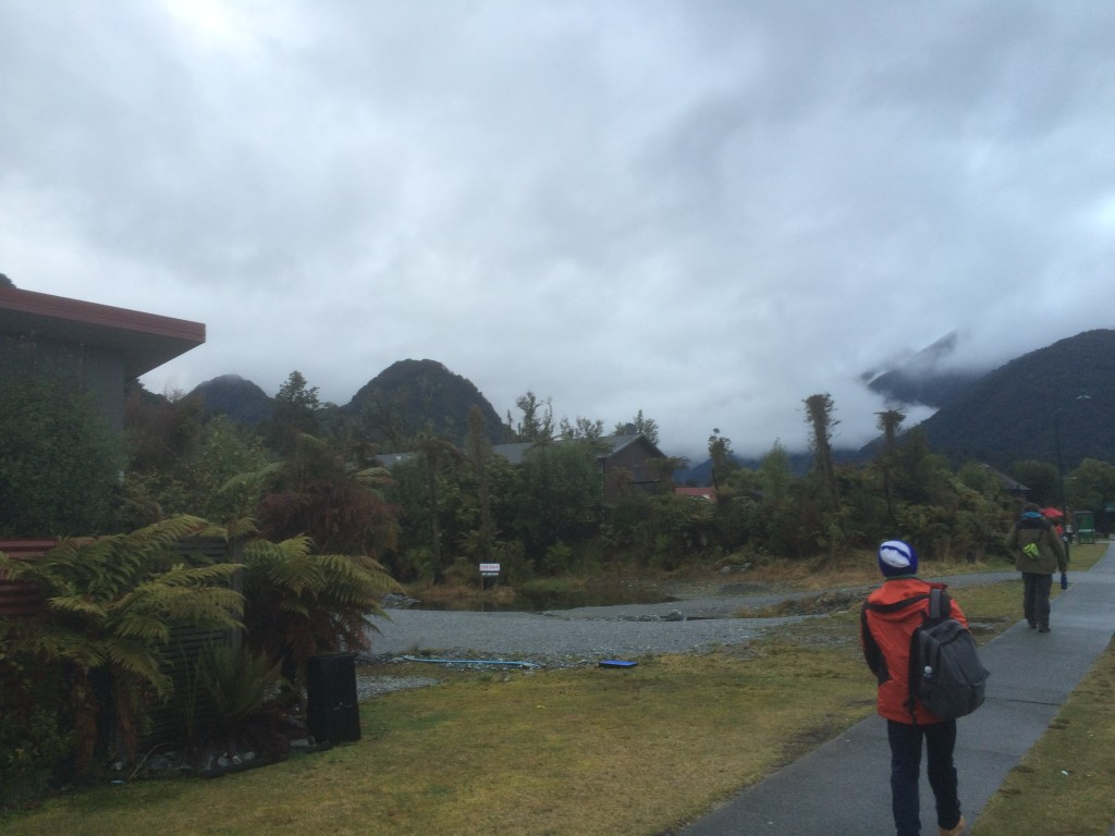 Behind those clouds somewhere is Franz Josef glacier. Allegedly.